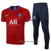 Chandal del Paris Saint-Germain Manga Corta 2020-2021 Rojo
